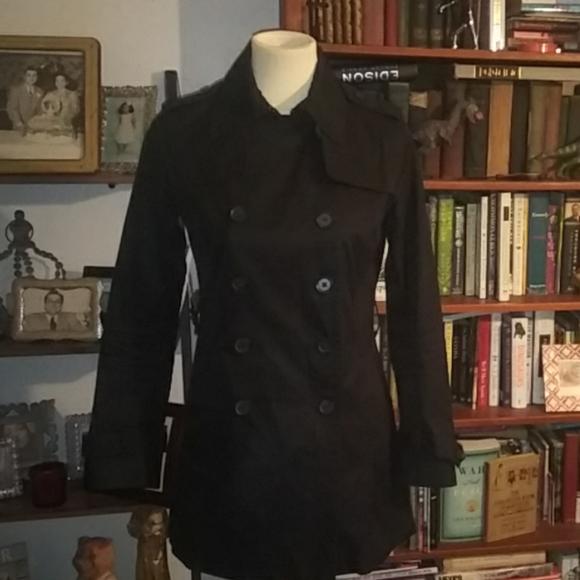 Banana Republic Jackets & Blazers - Banana Republic black trench jacket decent conditi